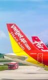 Parque del aire de Vietjet en Don Mueang International Airport imagen de archivo