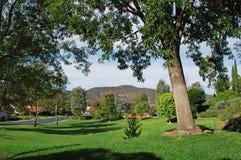 Parque del arbolado en comunidad del retiro de maderas de Laguna Foto de archivo libre de regalías
