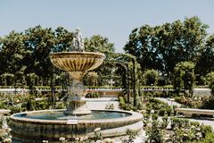 Parque del Buen Retiro à Madrid, Espagne photo stock