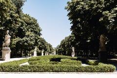 Parque del Buen Retiro i Madrid, Spanien arkivbild