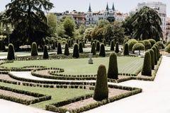 Parque del Buen Retiro i Madrid, Spanien arkivbilder