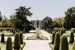 Parque del Buen Retiro i Madrid, Spanien royaltyfri fotografi