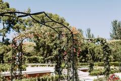 Parque del Buen Retiro i Madrid, Spanien royaltyfria foton