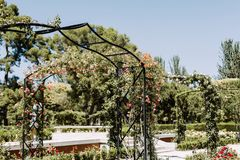 Parque del Buen Retiro no Madri, Espanha fotos de stock royalty free