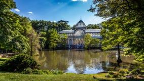 Conservatory at Parque del Buen Retiro Stock Image