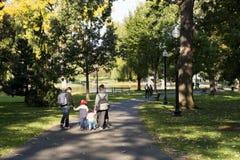 Parque del campo común de Boston imagen de archivo