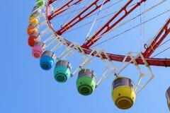 Parque del carnaval de la noria Fotografía de archivo
