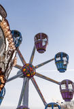 Parque del carnaval de la rueda del carrusel Imagenes de archivo