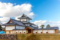 Parque del castillo del jardín y de Kanazawa de Kenrokuen en Kanazawa, Japón Fotos de archivo libres de regalías