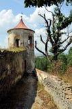 Parque del castillo en Horsovsky Tyn, República Checa imágenes de archivo libres de regalías
