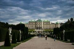 Parque del castillo en palacio del belvedere Foto de archivo libre de regalías