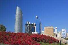 Parque del centro de ciudad Fotografía de archivo