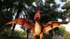 Parque del dinosaurio de Dubai almacen de video