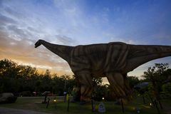Parque del dinosaurio en Tailandia fotografía de archivo libre de regalías