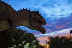 Parque del dinosaurio en Tailandia Fotos de archivo