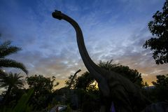 Parque del dinosaurio en Tailandia Imagen de archivo