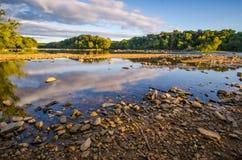 Parque del distrito de Dranesville, el lago Foto de archivo libre de regalías