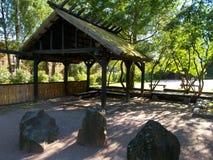 Parque del estilo japonés en Helsinki imagen de archivo