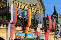 Parque del Europa del edificio de la entrada Foto de archivo libre de regalías