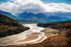 Parque del glaciar de Alaska Matanuska imagenes de archivo