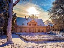 Parque del invierno en Oliwa Imagen de archivo libre de regalías