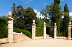 Parque del laberinto de Horta en Barcelona Imágenes de archivo libres de regalías