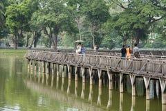 PARQUE DEL LAGO DE ASIA MYANMAR RANGÚN KANDAWGYI Foto de archivo libre de regalías