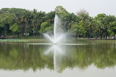 PARQUE DEL LAGO DE ASIA MYANMAR RANGÚN KANDAWGYI Foto de archivo