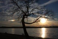 Parque del lago Weatherford Imagen de archivo libre de regalías
