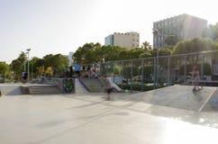 Parque del monopatín, Molos, Limassol, Chipre Foto de archivo