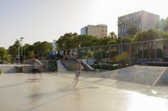 Parque del monopatín, Molos, Limassol, Chipre Imagen de archivo libre de regalías