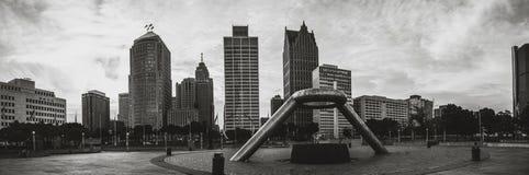 Parque del monumento en Detroit fotos de archivo