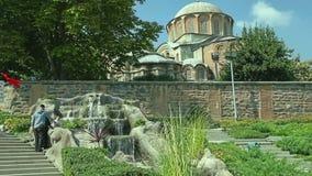 Parque del museo de Chora en Estambul almacen de video