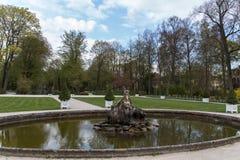 Parque del nuevo palacio en Bayreuth, Alemania, 2015 Foto de archivo
