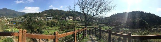 Parque del paisaje de la montaña del campo fotos de archivo libres de regalías