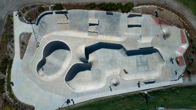 Parque del patín desde arriba imagenes de archivo