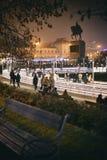 Parque del patinaje de hielo en Zagreb Fotografía de archivo libre de regalías
