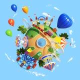 Parque del planeta libre illustration