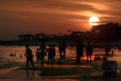 Parque del Plata Beach, Canelones, Uruguay fotografia stock libera da diritti