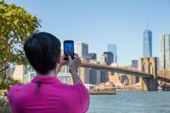Parque del puente de Brooklyn Fotografía de archivo