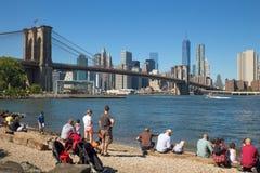 Parque del puente de Brooklyn Fotografía de archivo libre de regalías