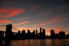 Parque del puente de Brooklyn Fotos de archivo