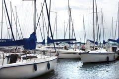 Parque del puerto deportivo Imagen de archivo libre de regalías