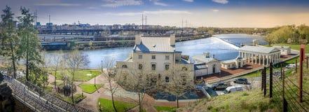 Parque del río de panorama de Philadelphia Foto de archivo