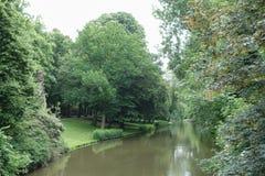 Parque del río en Brujas Fotografía de archivo libre de regalías
