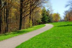 Parque del resorte del camino Foto de archivo