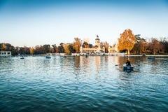 Parque del retiro. Lake, Madrid Royalty Free Stock Image
