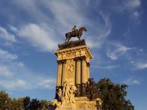 Parque del Retiro. Monument aan Alfonso XII Royalty-vrije Stock Afbeeldingen