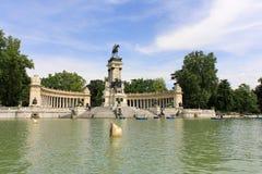 Parque del Retiro. Monument of Alfonso XII in Parque del Retiro in Madrid, Spain Stock Photos