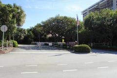 Parque del sur de la entrada Imagen de archivo